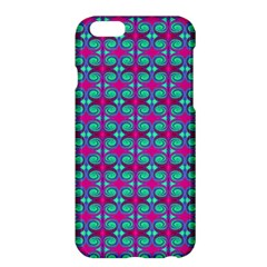 Pink Green Turquoise Swirl Pattern Apple Iphone 6 Plus/6s Plus Hardshell Case by BrightVibesDesign