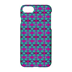 Pink Green Turquoise Swirl Pattern Apple Iphone 7 Hardshell Case by BrightVibesDesign