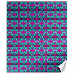 Pink Green Turquoise Swirl Pattern Canvas 20  X 24   by BrightVibesDesign