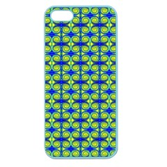 Blue Yellow Green Swirl Pattern Apple Seamless Iphone 5 Case (color)