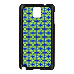 Blue Yellow Green Swirl Pattern Samsung Galaxy Note 3 N9005 Case (black)