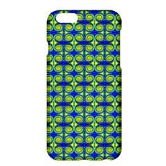 Blue Yellow Green Swirl Pattern Apple Iphone 6 Plus/6s Plus Hardshell Case by BrightVibesDesign