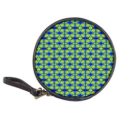 Blue Yellow Green Swirl Pattern Classic 20 Cd Wallets