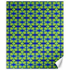 Blue Yellow Green Swirl Pattern Canvas 20  X 24   by BrightVibesDesign