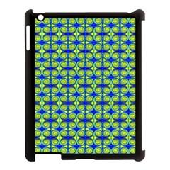 Blue Yellow Green Swirl Pattern Apple Ipad 3/4 Case (black)