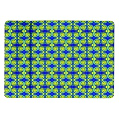 Blue Yellow Green Swirl Pattern Samsung Galaxy Tab 10 1  P7500 Flip Case