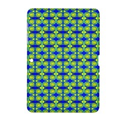 Blue Yellow Green Swirl Pattern Samsung Galaxy Tab 2 (10 1 ) P5100 Hardshell Case  by BrightVibesDesign