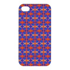Blue Orange Yellow Swirl Pattern Apple Iphone 4/4s Hardshell Case