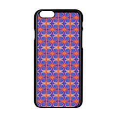 Blue Orange Yellow Swirl Pattern Apple Iphone 6/6s Black Enamel Case