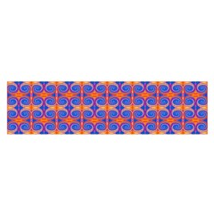 Blue Orange Yellow Swirl Pattern Satin Scarf (oblong)
