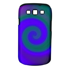 Swirl Green Blue Abstract Samsung Galaxy S Iii Classic Hardshell Case (pc+silicone)