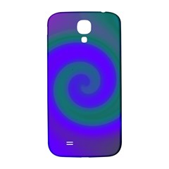 Swirl Green Blue Abstract Samsung Galaxy S4 I9500/i9505  Hardshell Back Case by BrightVibesDesign