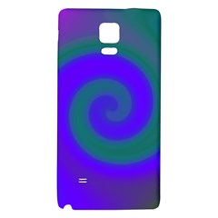 Swirl Green Blue Abstract Galaxy Note 4 Back Case