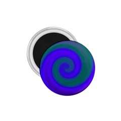 Swirl Green Blue Abstract 1 75  Magnets by BrightVibesDesign