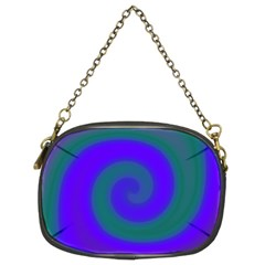 Swirl Green Blue Abstract Chain Purses (two Sides)