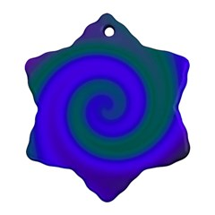 Swirl Green Blue Abstract Ornament (snowflake)