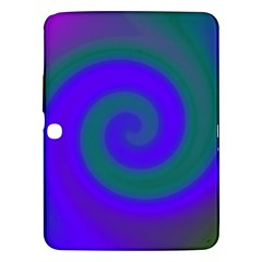 Swirl Green Blue Abstract Samsung Galaxy Tab 3 (10 1 ) P5200 Hardshell Case  by BrightVibesDesign