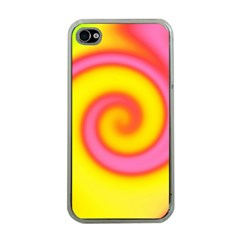 Swirl Yellow Pink Abstract Apple Iphone 4 Case (clear)