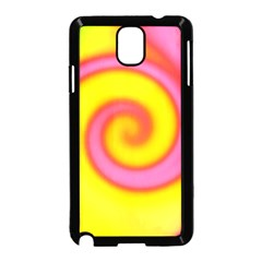 Swirl Yellow Pink Abstract Samsung Galaxy Note 3 Neo Hardshell Case (black)