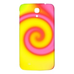 Swirl Yellow Pink Abstract Samsung Galaxy Mega I9200 Hardshell Back Case by BrightVibesDesign