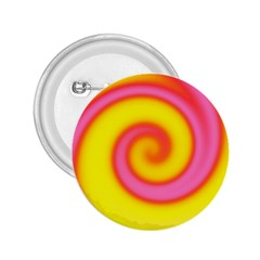 Swirl Yellow Pink Abstract 2 25  Buttons by BrightVibesDesign