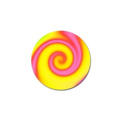 Swirl Yellow Pink Abstract Golf Ball Marker (4 Pack)