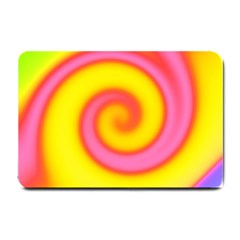Swirl Yellow Pink Abstract Small Doormat