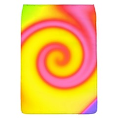 Swirl Yellow Pink Abstract Flap Covers (l)  by BrightVibesDesign