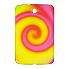 Swirl Yellow Pink Abstract Samsung Galaxy Note 8 0 N5100 Hardshell Case  by BrightVibesDesign