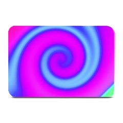 Swirl Pink Turquoise Abstract Plate Mats