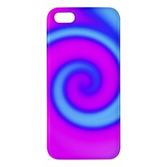 Swirl Pink Turquoise Abstract Apple Iphone 5 Premium Hardshell Case by BrightVibesDesign