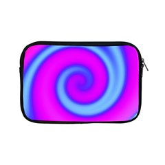 Swirl Pink Turquoise Abstract Apple Ipad Mini Zipper Cases by BrightVibesDesign