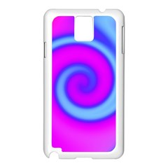 Swirl Pink Turquoise Abstract Samsung Galaxy Note 3 N9005 Case (white)