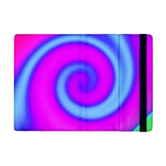 Swirl Pink Turquoise Abstract Ipad Mini 2 Flip Cases by BrightVibesDesign
