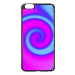 Swirl Pink Turquoise Abstract Apple Iphone 6 Plus/6s Plus Black Enamel Case by BrightVibesDesign