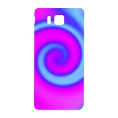 Swirl Pink Turquoise Abstract Samsung Galaxy Alpha Hardshell Back Case by BrightVibesDesign