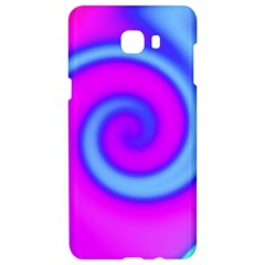 Swirl Pink Turquoise Abstract Samsung C9 Pro Hardshell Case  by BrightVibesDesign