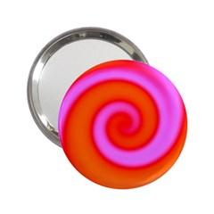 Swirl Orange Pink Abstract 2 25  Handbag Mirrors by BrightVibesDesign