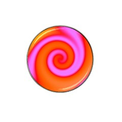 Swirl Orange Pink Abstract Hat Clip Ball Marker by BrightVibesDesign