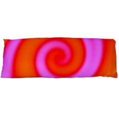 Swirl Orange Pink Abstract Body Pillow Case Dakimakura (two Sides) by BrightVibesDesign