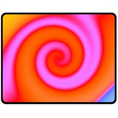 Swirl Orange Pink Abstract Double Sided Fleece Blanket (medium)