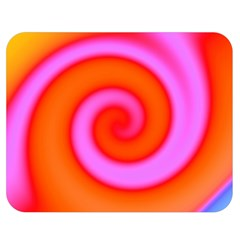 Swirl Orange Pink Abstract Double Sided Flano Blanket (medium)  by BrightVibesDesign