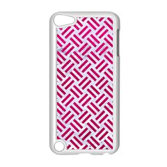Woven2 White Marble & Pink Leather (r) Apple Ipod Touch 5 Case (white)