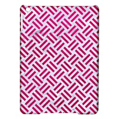 Woven2 White Marble & Pink Leather (r) Ipad Air Hardshell Cases