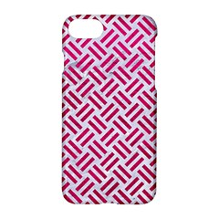 Woven2 White Marble & Pink Leather (r) Apple Iphone 8 Hardshell Case by trendistuff
