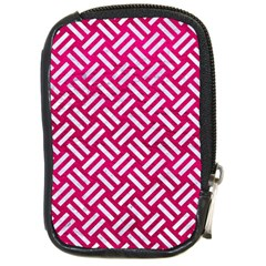 Woven2 White Marble & Pink Leather Compact Camera Cases