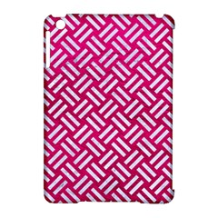 Woven2 White Marble & Pink Leather Apple Ipad Mini Hardshell Case (compatible With Smart Cover)