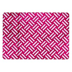 Woven2 White Marble & Pink Leather Samsung Galaxy Tab 10 1  P7500 Flip Case
