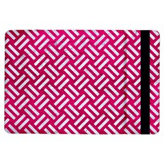 Woven2 White Marble & Pink Leather Ipad Air Flip