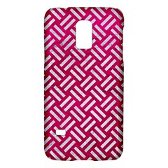 Woven2 White Marble & Pink Leather Galaxy S5 Mini